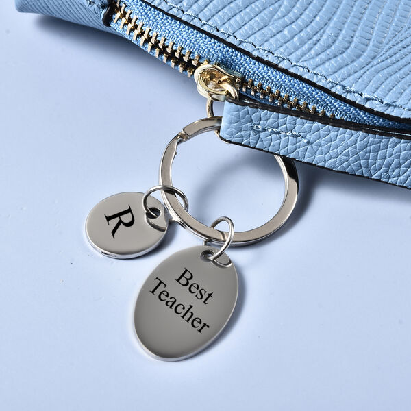 Personalised Engravable Round & Oval disc Key ring in Stainless Steel