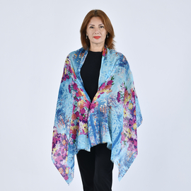 HMG  Wool  Scarves One Size Turquoise