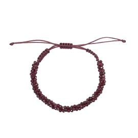 One Time Deal- Rhodolite Garnet Bead Adjustable Bracelet (Size 6.5-9.5) 40.33 Ct.