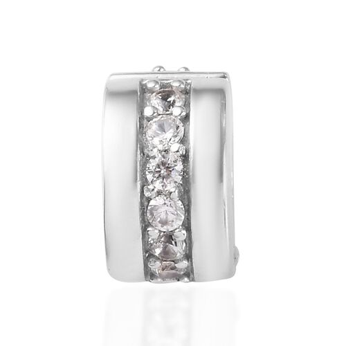 Natural Cambodian Zircon Charm in Platinum Overlay Sterling Silver 0.60 Ct.