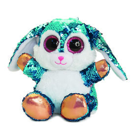 Keel Toys - Glitter Motsu - Blue and Pink Sequins Rabbit