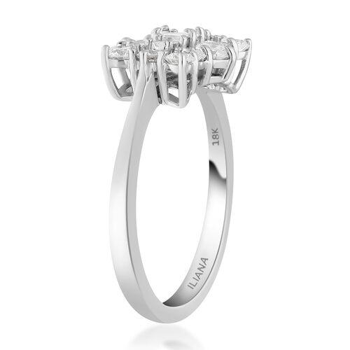 ILIANA 18K White Gold IGI Certified Diamond (SI/G-H) Ring 1.00 Ct.