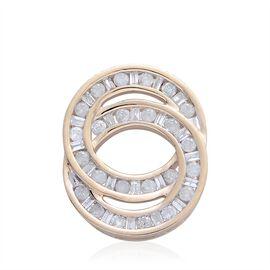 9K Yellow Gold 0.50 Ct Diamond Circle of Life Pendant SGL Certified (I3/G-H)