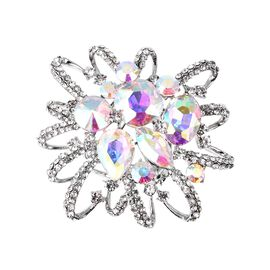 White Austrian Crystal, Simulated Mystic White Austrian Crystal and Simulated White Mystic Topaz Sca