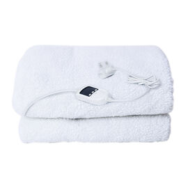 4 Zones KING Size Sherpa Heated Blanket with Dual Controller and 9 Heat Settings