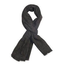 Charcoal Colour Scarf (Size 180x47 Cm)