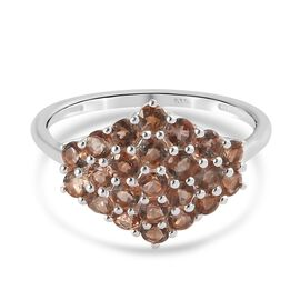Andalusite Cluster Ring in Sterling Silver 1.25 Ct.
