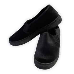 Black Slip On Womens Shoes (Size 3)