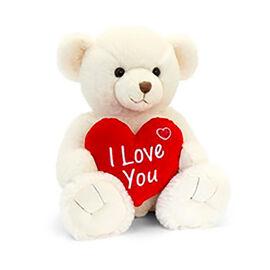 Keels Toys: Cream Snuggles Bear with Heart - 25cm