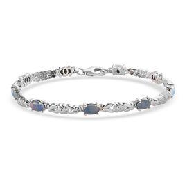 DOD Boulder Opal Bracelet (Size 7) in Platinum Overlay Sterling Silver