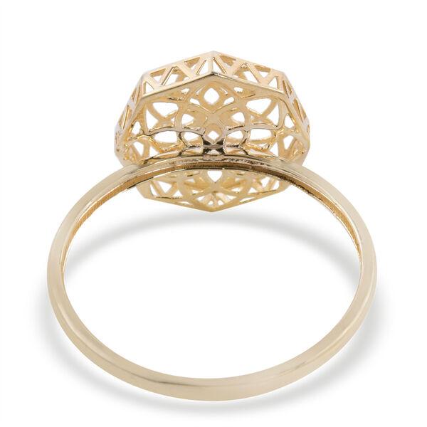 Royal Bali Collection- 9k Yellow Gold Floral Ring