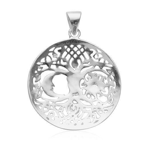 Sterling Silver Tree of Life Pendant, Silver wt 4.81 Gms