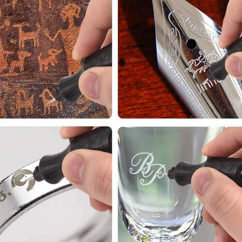 Battery Operated Handheld Engraving Pen (Size 8x20.5x2.2cm) (2xAAA Battery not included) - Red