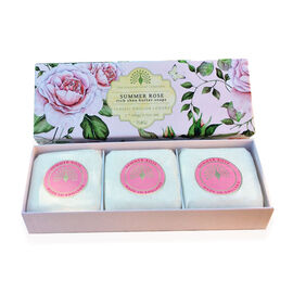 THE ENGLISH SOAP COMPANY- Classic Gift Boxed Soap 3 x 100g Summer Rose