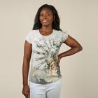 JOVIE Low Sleeve Blouse (Size S / 8) - Mocha & Multi