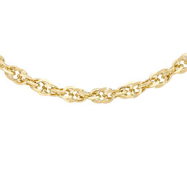 Hatton Garden Close Out-9K Yellow Gold Diamond Cut Prince of Wales Necklace (Size - 18), Gold Wt.3.7