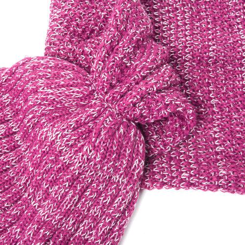 Dahlia Mauve Colour Mermaid Tail Blanket (Size 148x46 Cm)