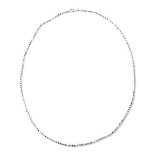Designer Inspired - Sterling Silver Necklace (Size 18), Silver wt 5.00 Gms.