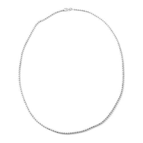 Designer Inspired - Sterling Silver Necklace (Size 18), Silver wt 5.00 Gms.
