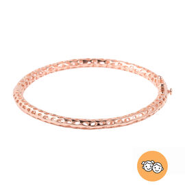 RACHEL GALLEY Rose Gold Overlay Sterling Silver Allegro Kids Bangle (Size 6.2)