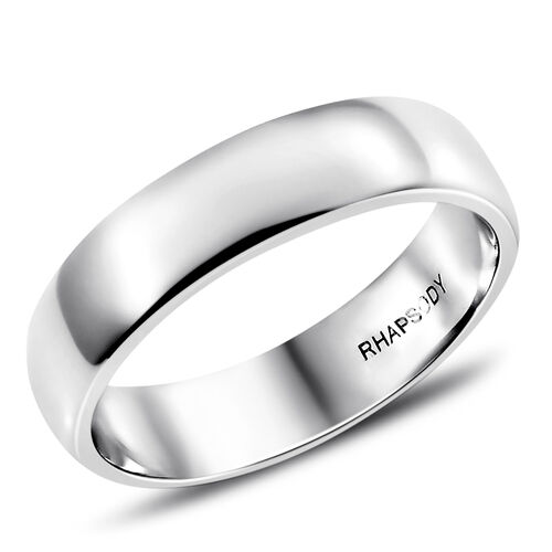RHAPSODY 950 Platinum 5mm Platinum Wedding Band Ring, Platinum wt 7.06 Gms.