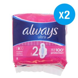Always: Ultra Super Plus with Wings 8s (Set of 2)