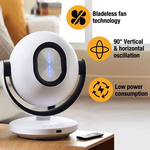Tors + Olsson Air Pod Bladeless Fan With Remote - White