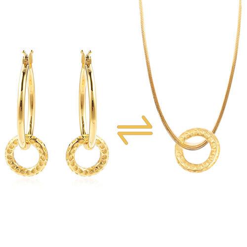 RACHEL GALLEY Allegro Mini Loop link Earrings in Gold Plated Silver