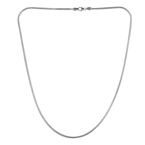 Sterling Silver Snake Necklace (Size 24), Silver wt. 25.75 Gms