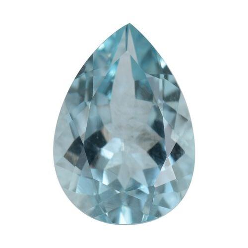 AA Aquamarine Pear 2.98x9.10x5.99 Faceted 3.30 Cts