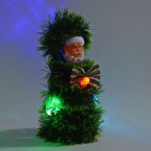 Christmas Decorations Santa Claus in a Christmas Tree (Size 25x12 Cm)