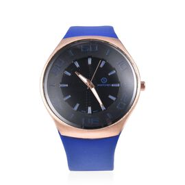 STRADA Japanese Movement Water Resistant Watch with Blue Strap
