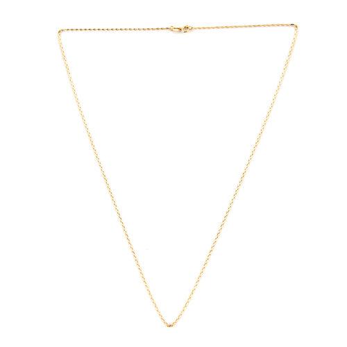 Designer Inspired- 9K Yellow Gold Belcher Necklace (Size 20)