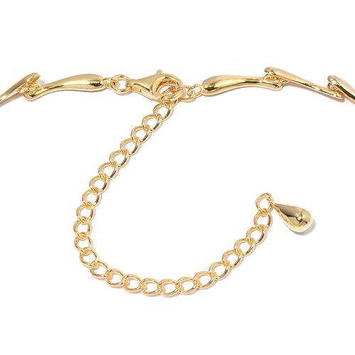 LucyQ Multi Drip Necklace (Size 20) in Yellow Gold Plated Sterling Silver , Silver wt 40.43 Gms