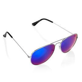 Brand NEW - Designed in Italy Rainbow Chrome Vintage Style Aviator Sunglasses