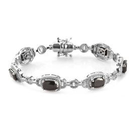 6.25 Ct Elite Shungite Station Bracelet in Platinum Plated 7 Inch