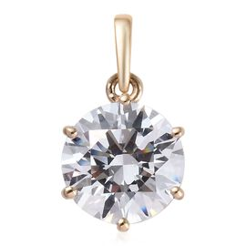 Super Auction- J Francis - 9K Yellow Gold (Rnd) Solitaire Pendant Made with SWAROVSKI ZIRCONIA 3.30
