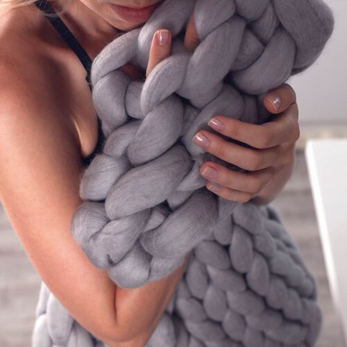 100% Cotton Filled Thick Rope in Grey (760cm)