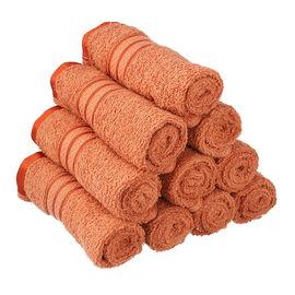 Set of 10 - 100%Egyptian Cotton Face Towel (Size:30x30Cm) - Brick