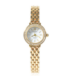 ETERNITY - Ladies Swarovski Studded Watch in Gold Tone