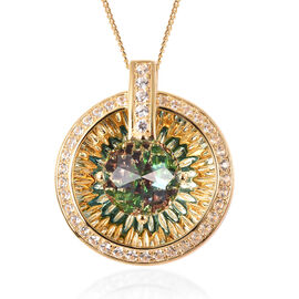 Galatea DavinChi Cut Collection -Blue Topaz, Russian Diopside, Natural Cambodian Zircon and Mozambiq