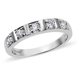 RHAPSODY 950 Platinum IGI CERTIFIED Diamond (Rnd) (VS / E-F) Band Ring 0.330 Ct, Platinum wt 5.85 Gm