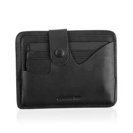 CERRUTI 1881 - 100% Genuine Leather Black Colour Wallet (Size 11x9 Cm)