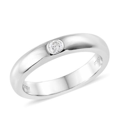 RHAPSODY 950 Platinum IGI Certified Diamond (Rnd) (VS/E-F) Band Ring, Platinum wt 6.40 Gms.
