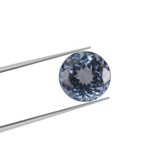 AA Peacock Tanzanite Round 6.39x4.76 Faceted 0.96 Cts
