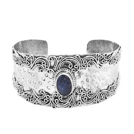 7.50 Ct Tucson Special Tanzanite Cuff Bangle in Sterling Silver 36.15 Grams 7.25 Inch