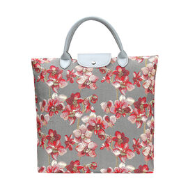 SIGNARE - Tapastry Orchid Foldable Large Tote Bag     (38 x 35.5 x 9 cms)