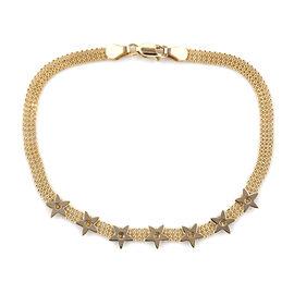 Royal Bali Collection 9K Yellow Gold Bracelet (Size 7.5).Gold Wt 3.20 Gms