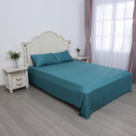 SERENITY NIGHT 4 Piece Set - 100% Bamboo Sheet Set (Includes Flat Sheet, Fitted Sheet and 2 Pillowcases) - Teal (Size Double)