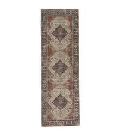 95% Cotton Chenille Jaquard Persian Pattern Carpet (Size 240x80 Cm)